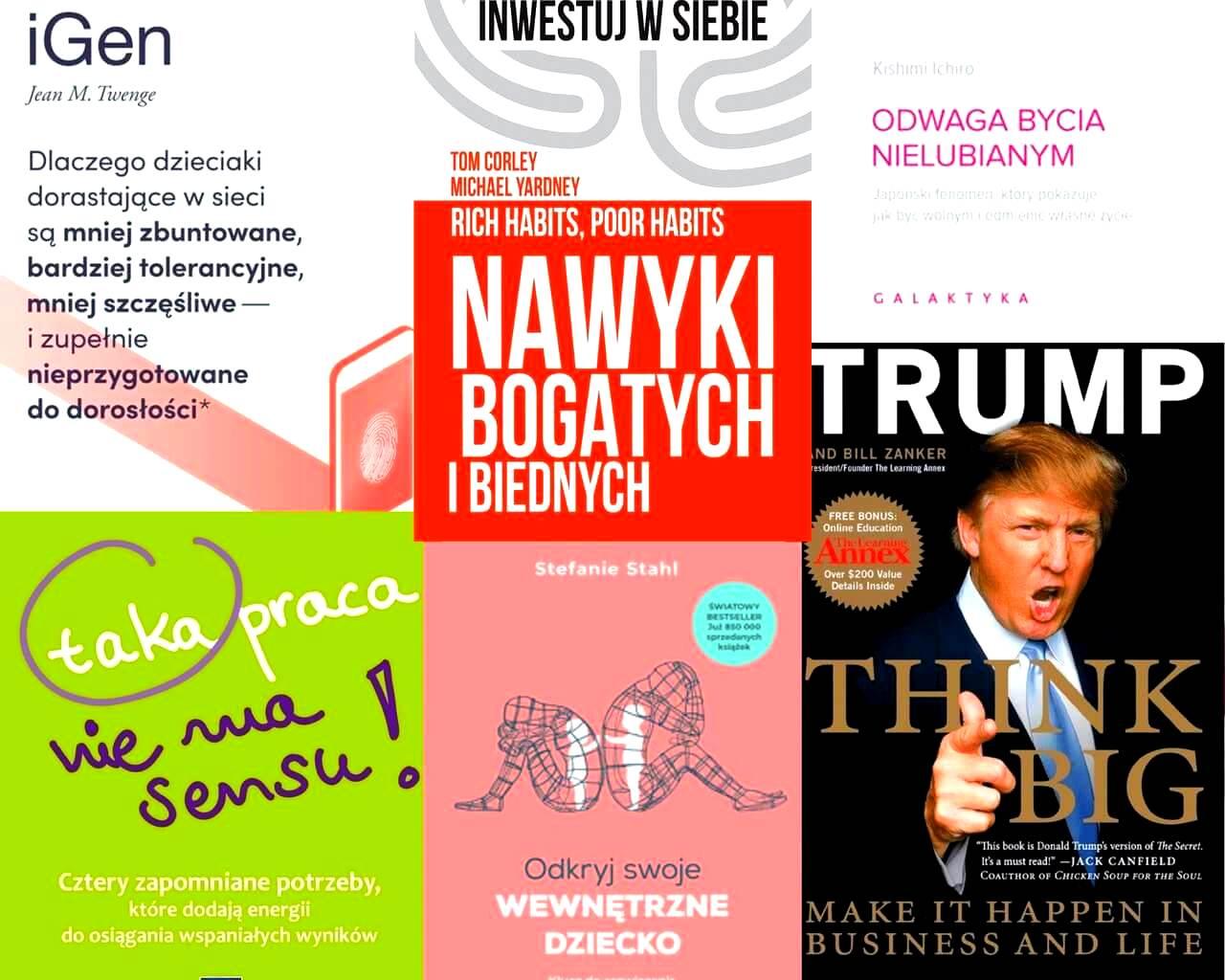 Okładki różnych książek