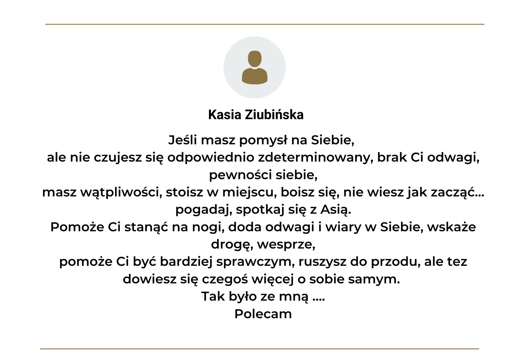 Opinia o treningu mentalnym z Joanna Łagan