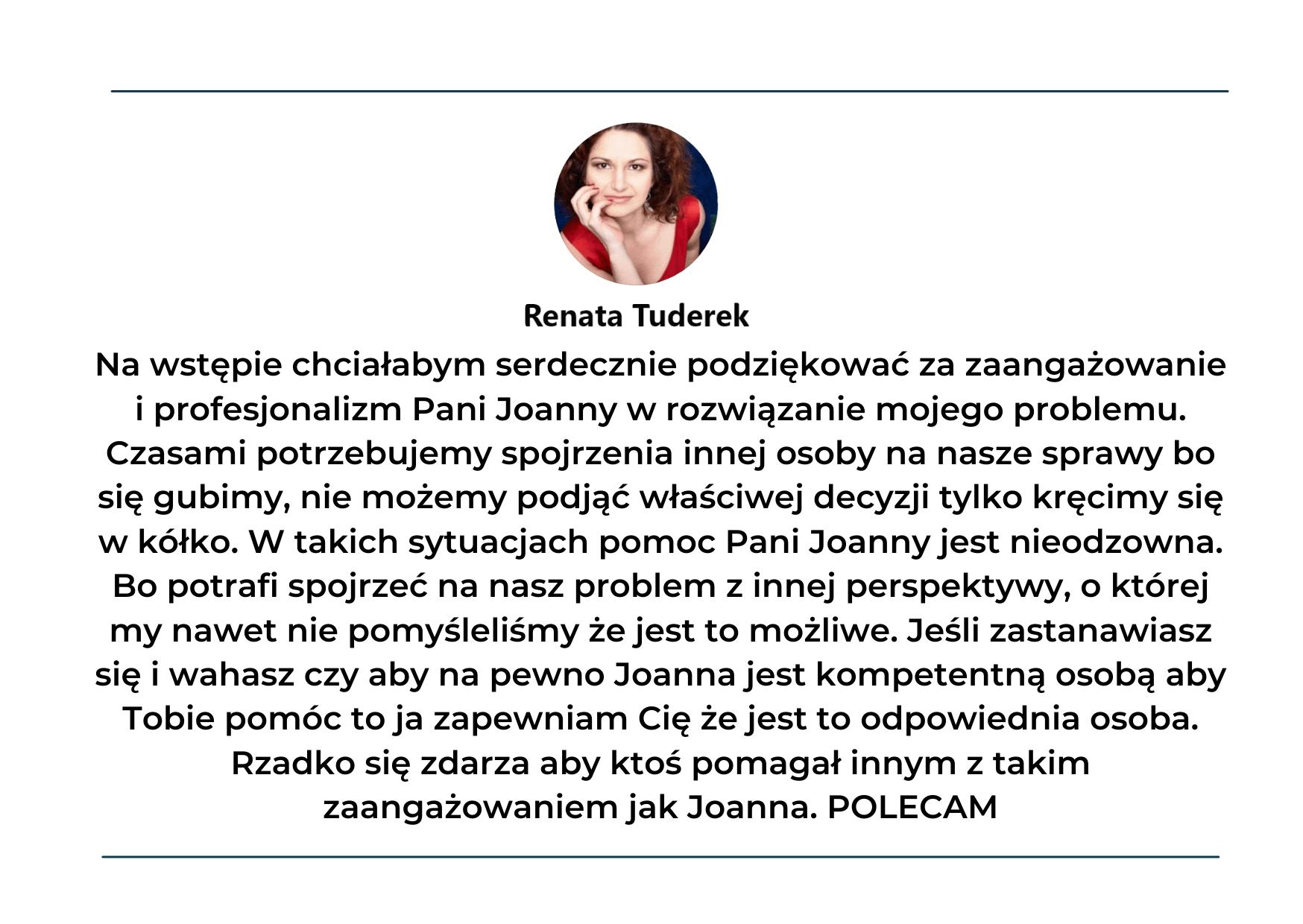 Opinia o treningu mentalnym Joanna Łagan